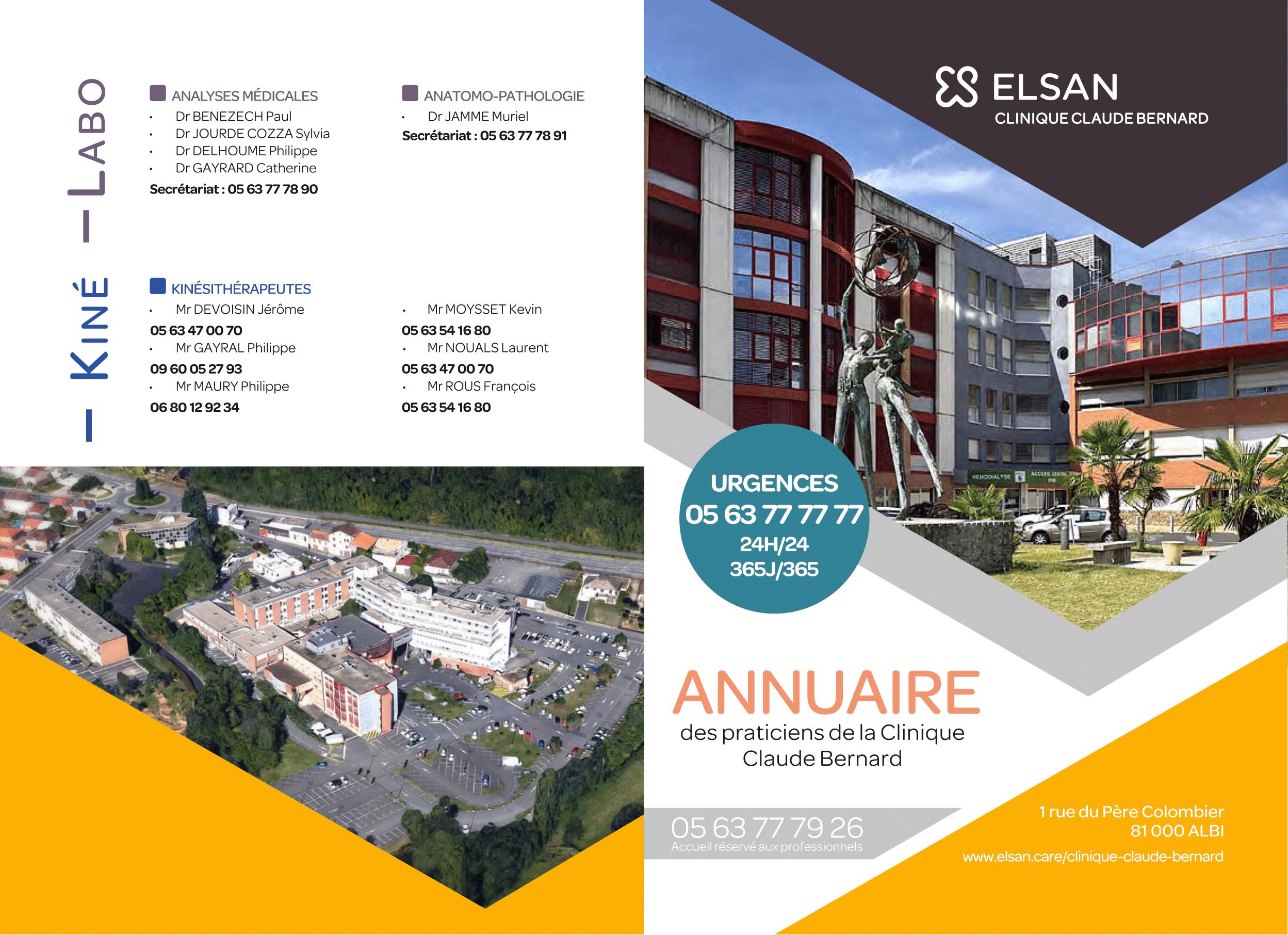 L'accompagnement en communication print de la Clinique Claude Bernard à Albi post thumbnail