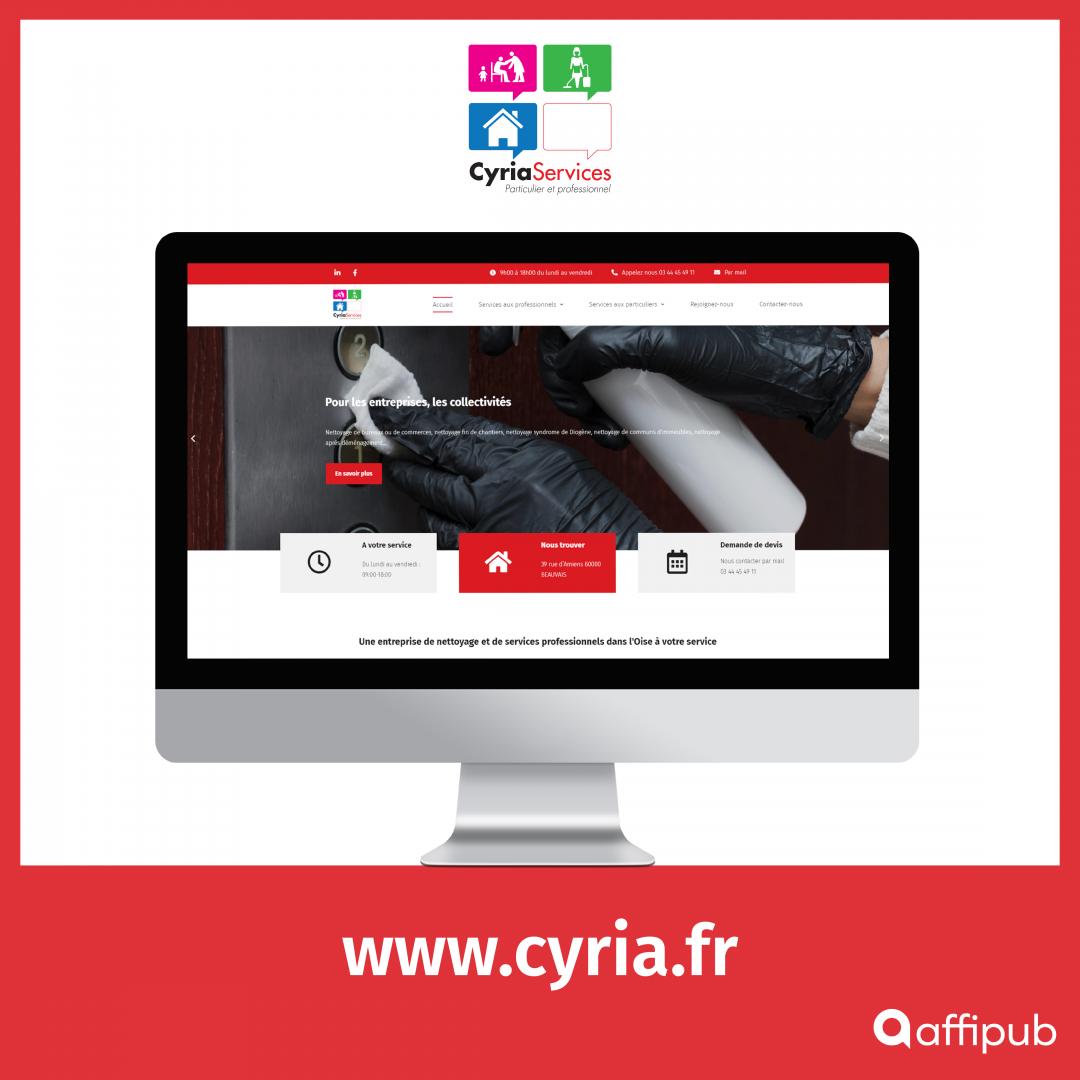 Site vitrine de Cyria Services à Beauvais