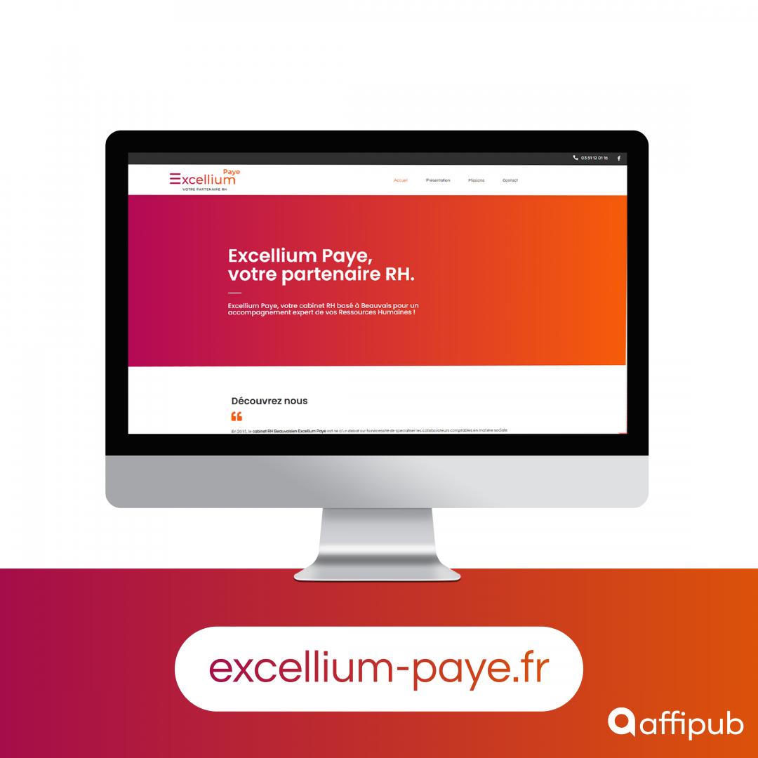 Site internet d'Excellium Paye à Beauvais dans l'Oise