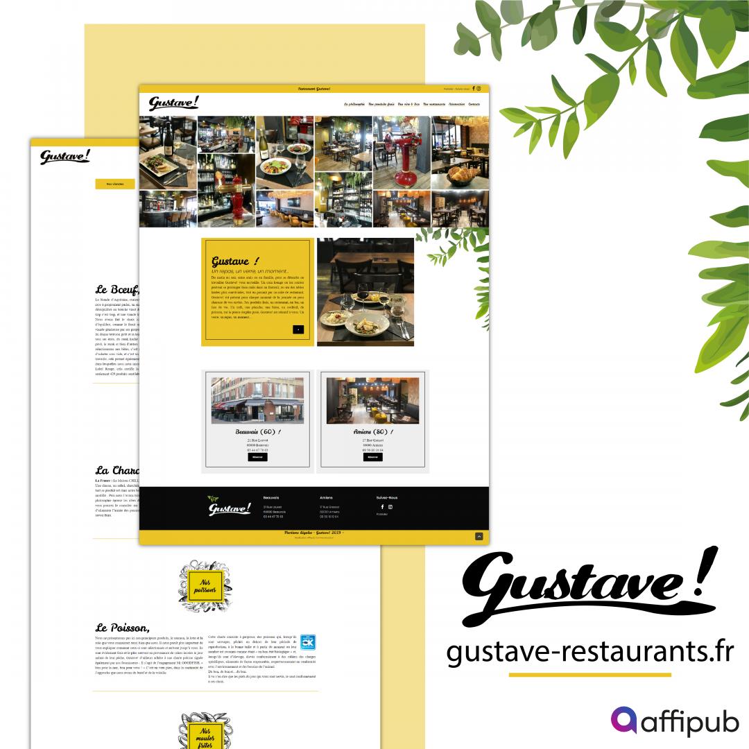 Site vitrine du restaurant Gustave situer à Beauvais